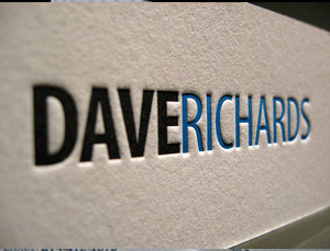 Cartão de visita com impressão tipográfica em 2 cores CDV 005