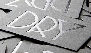 Cartão de visita com impressão em tipografia de baixo relevo. CDV 001