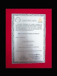 Diploma em Aço DA-3 Anhaguera Educacional