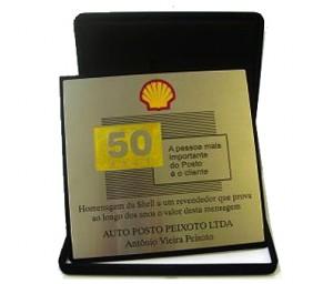 Placa de homenagem SA-12 Shell feita de Latão, tamanho 20x20.