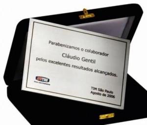 Placa de homenagem SA-4 TIM