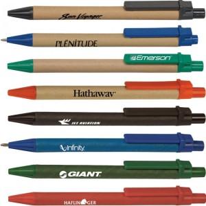 canetas ecológicas de papel