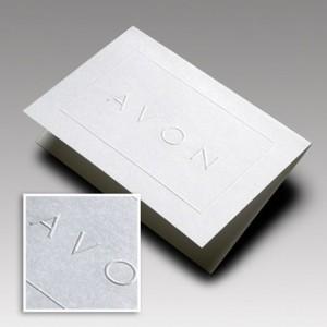 cartão social em relevo seco e relevo francês Avon CDV-002