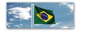 Bandeira do Brasil de todos os tamanhos.