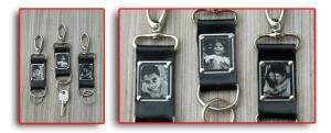 Chaveiros de metal para o dia dos pais.