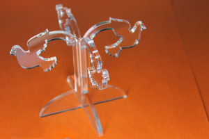 Corte laser em acrílico