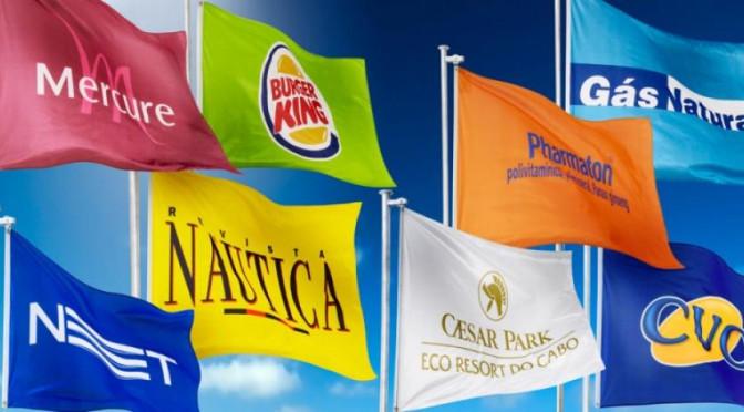 fábrica de bandeira de empresas.