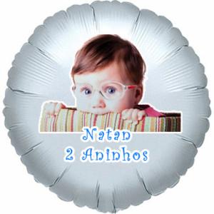 Balões metalizados rj-personalizados Natan 2 Aninhos