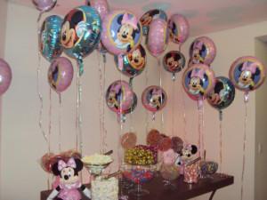 Balões metalizados rj,minie e mickey