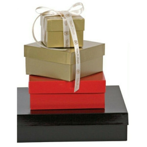 Caixas embalagens luxo, caixas de luxo com tampa e tamanhos variados.