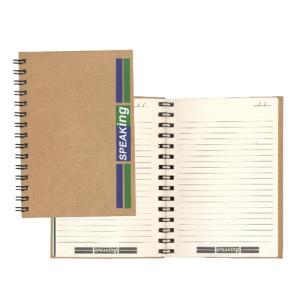 Cadernos ecológicos com pauta personalizados