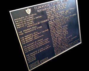 Placa de inauguração RJ,Bronze fundido