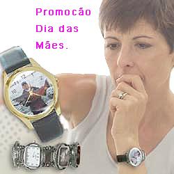 Relógio pulso personalizado foto, promoção.