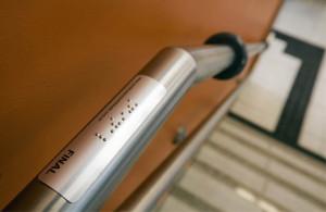 Adesivos de segurança em Braille, adesivos para corrimão.