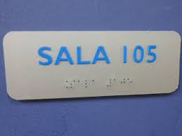 Placa sinalização de acrílico com impressão em Braille