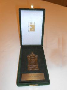 Medalha de Bronze fundido fachada correios