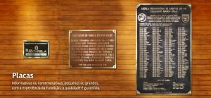 Placas de Bronze rj, aplicadas em alvenaria.