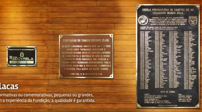 Placas de Bronze Fundido, para inauguração.