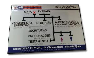 Mapa Tactíl em Braille.