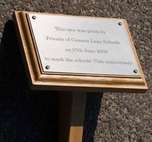 Placas metal na moldura de madeira rj 1.