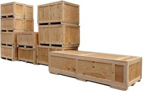 caixas de madeira para transportar equipamentos