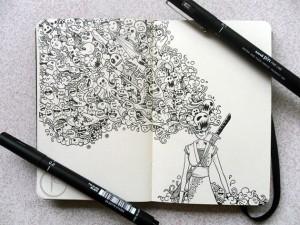 caderno de desenho capa dura