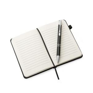 Caderneta tipo Moleskine aberto