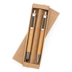 Kit Ecológico Caneta e Lapiseira Bambu