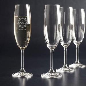 Taças e copos de vidro com impressão a laser rj